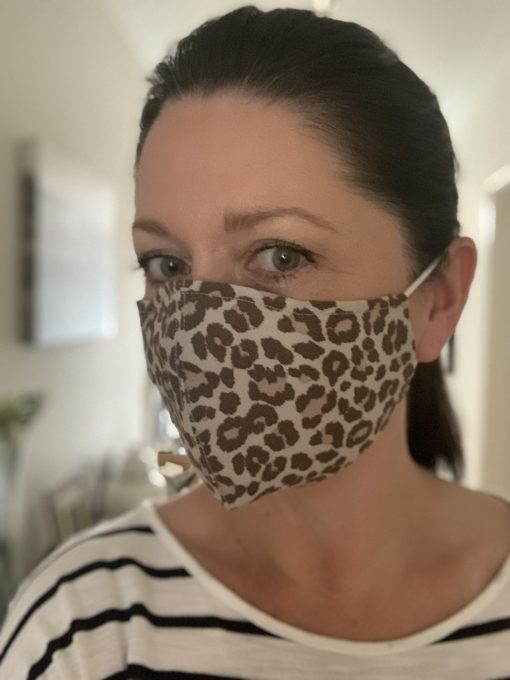 Tan leopard face Mask