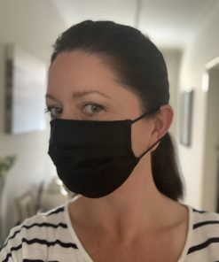SILK PLEAT FACE MASK BLACK