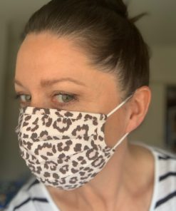 Face masks - Blush Pink leopard