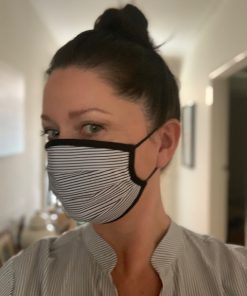 Face Mask - Pleat design with black trim