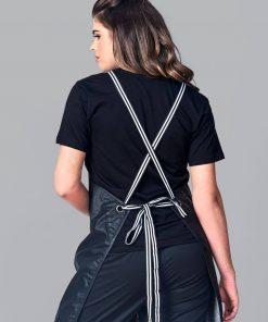 Stripe apron straps