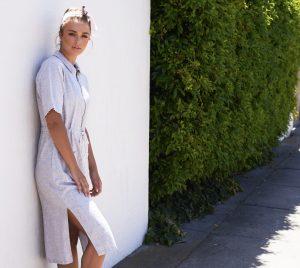 Linen dress natural uniforms