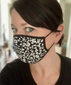 Ocelot Print Face Mask with bind