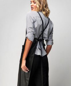 Cross Back Midi Apron with 2 Pockets