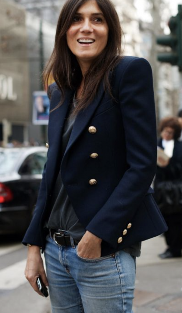 Navy and black worn together