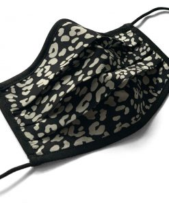 Ocelot Print Silk Face Mask