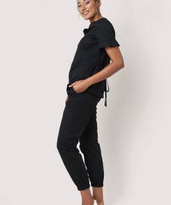 Sass top with pleats beauty uniform