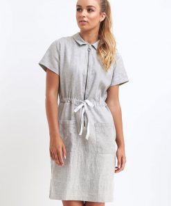 Beauty Therapist Uniform Dress in Silver