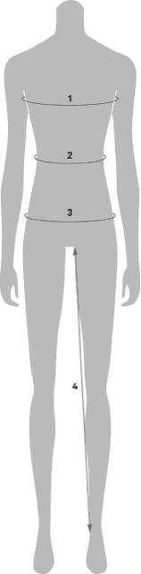 Body Measurement diagram for The Uniform Stylist products